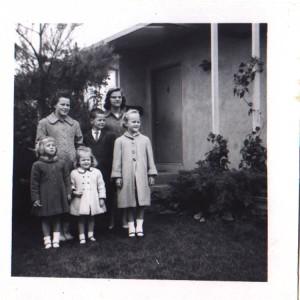 Six kids in Winter Coats_1963